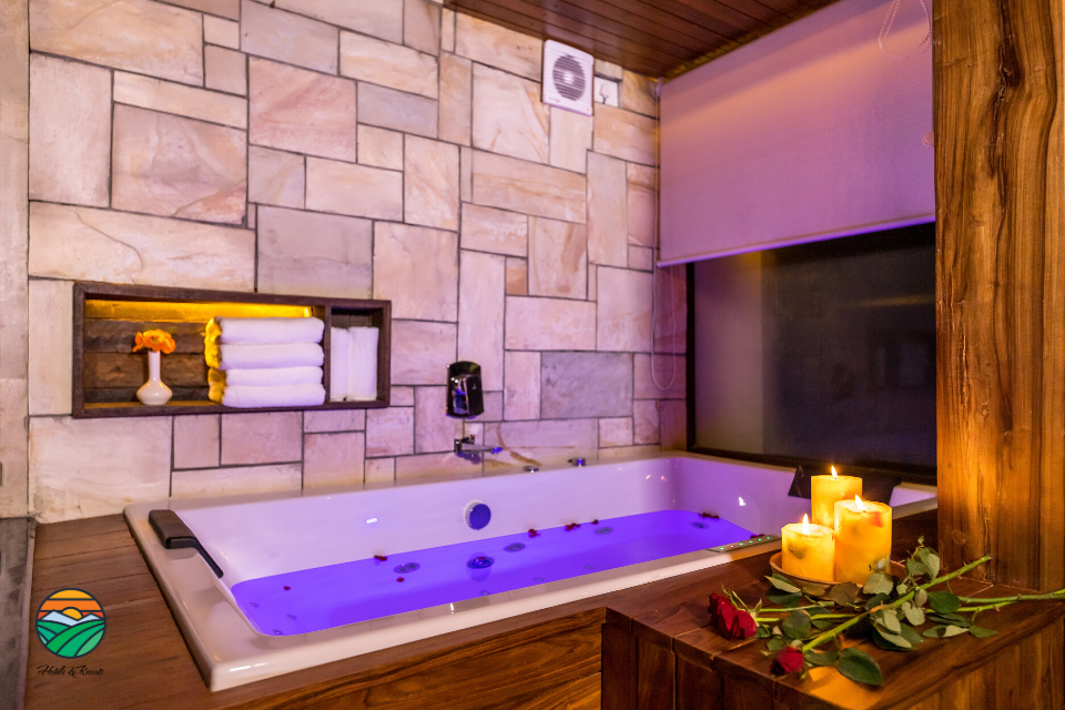 Jacuzzi at one of our Suite Rooms