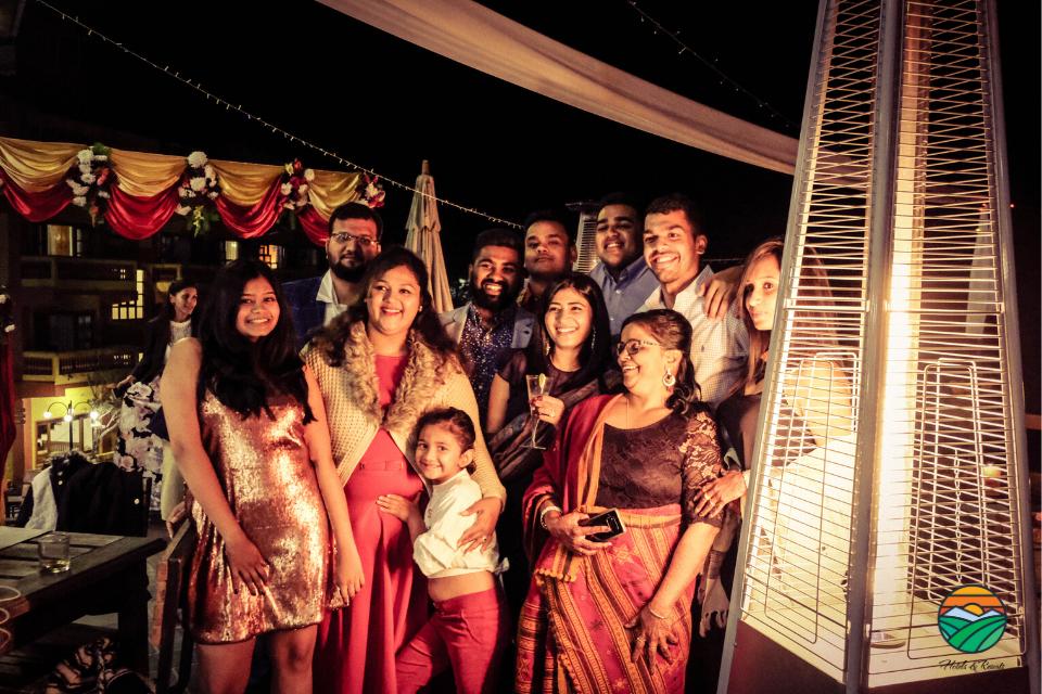 Guests enjoying wedding vibes