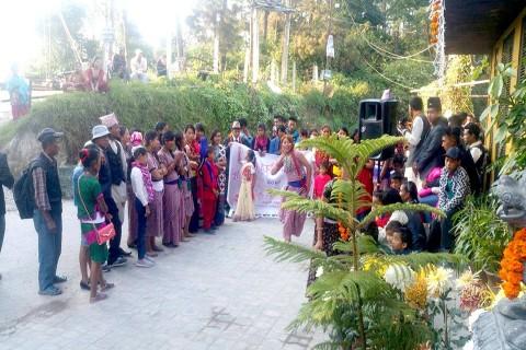 Happy Tihar Deusi Bhailo at Hotel country villa Nagarkot